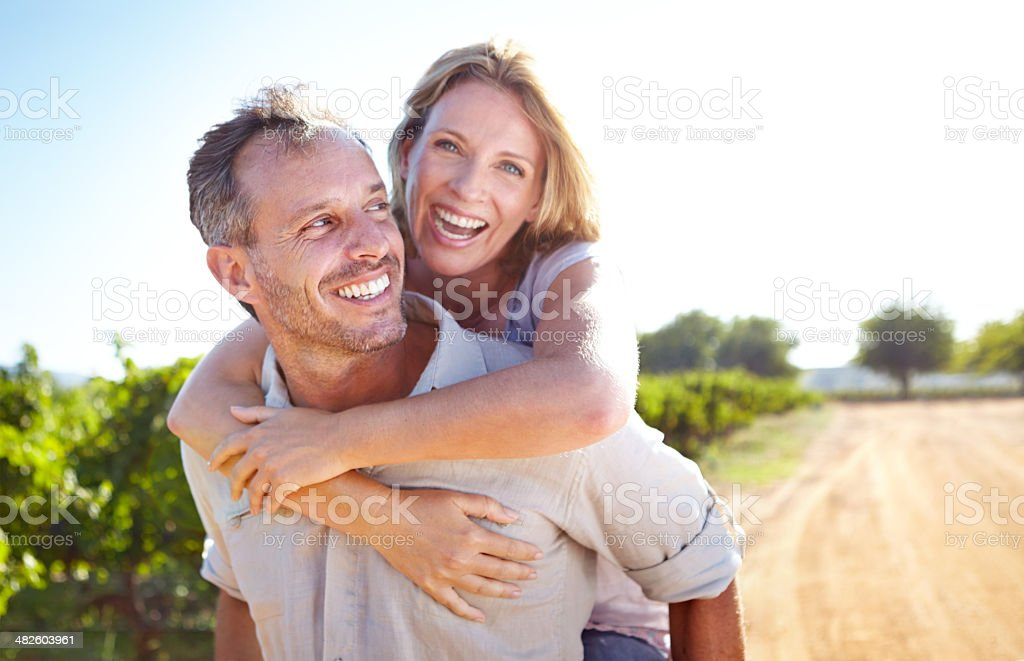 He's always making me laugh! stock photo