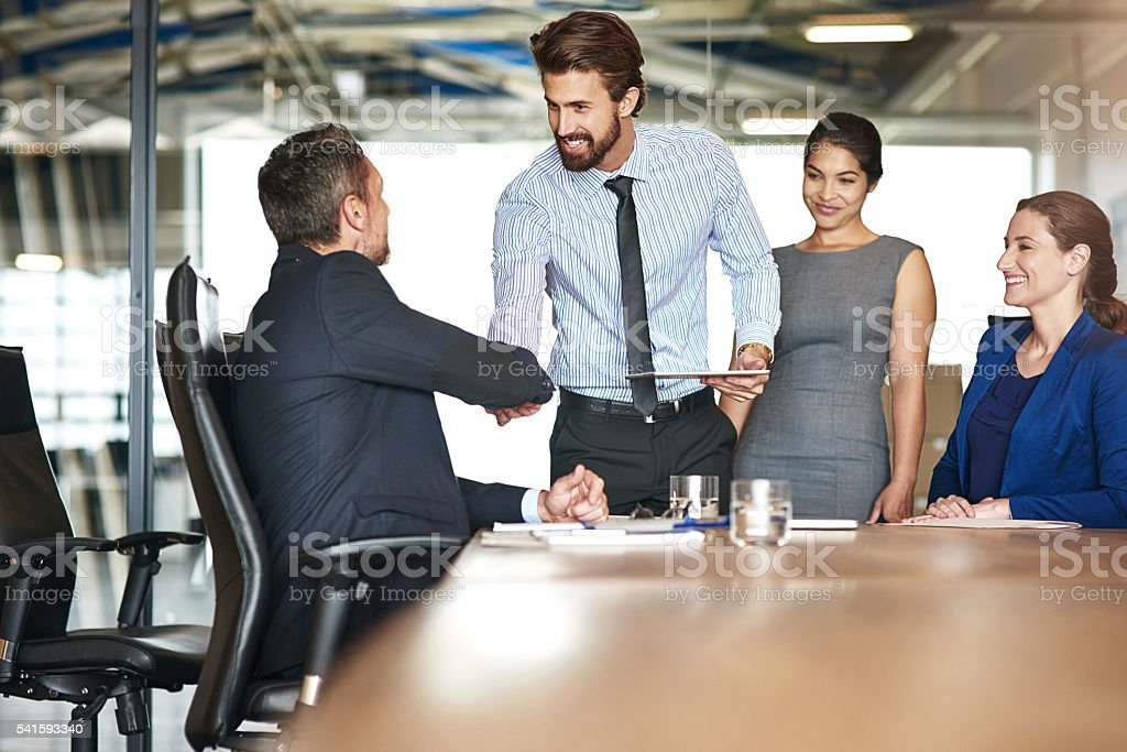 He's an asset to the team stock photo