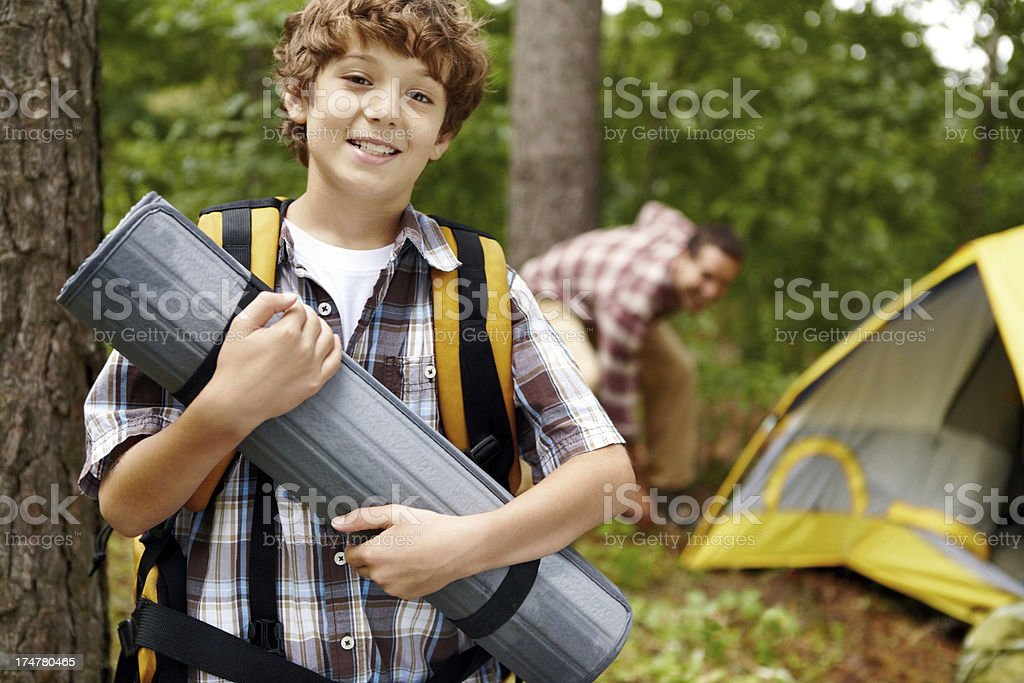 He's been looking forward to this trip! royalty-free stock photo