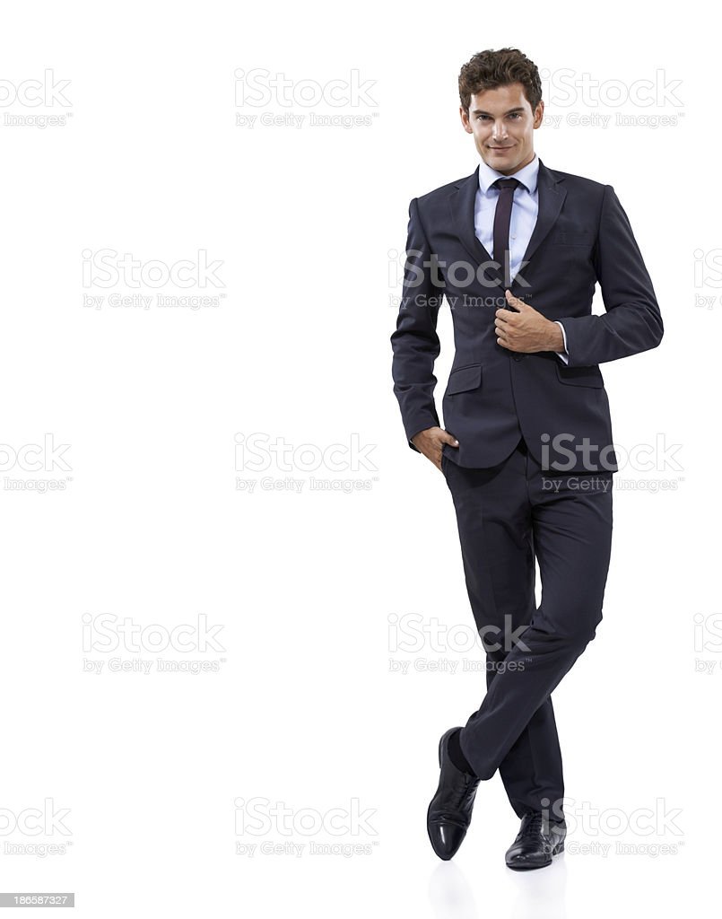 He's big in the business world stock photo