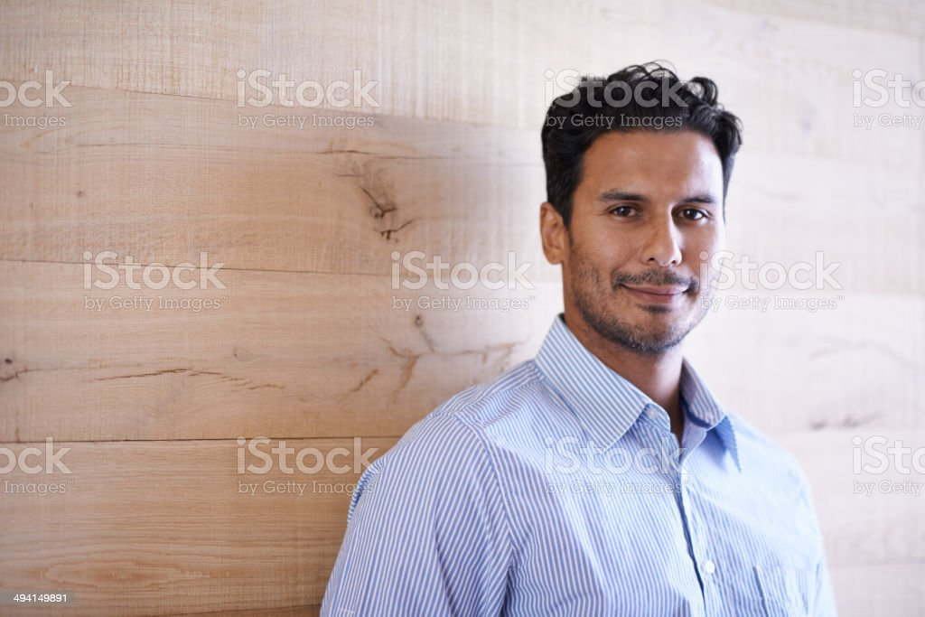 He's cool and calm under any kind of pressure stock photo