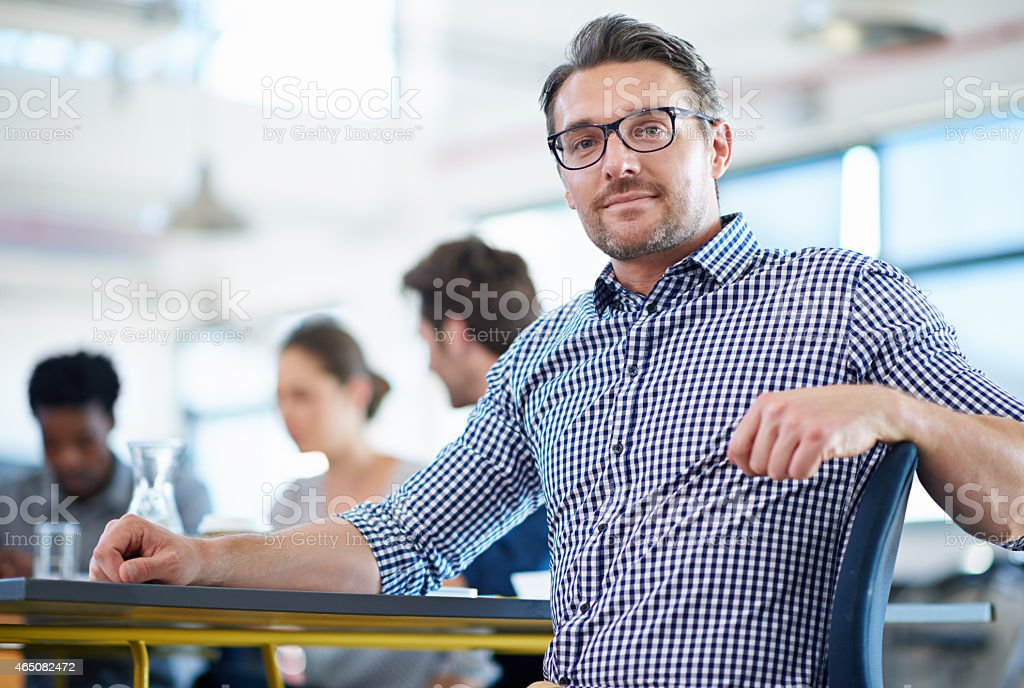 He's determined to succeed stock photo