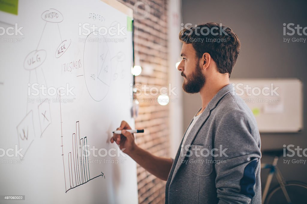 He's determined to succeed. stock photo