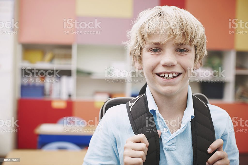 He's excited about learning royalty-free stock photo