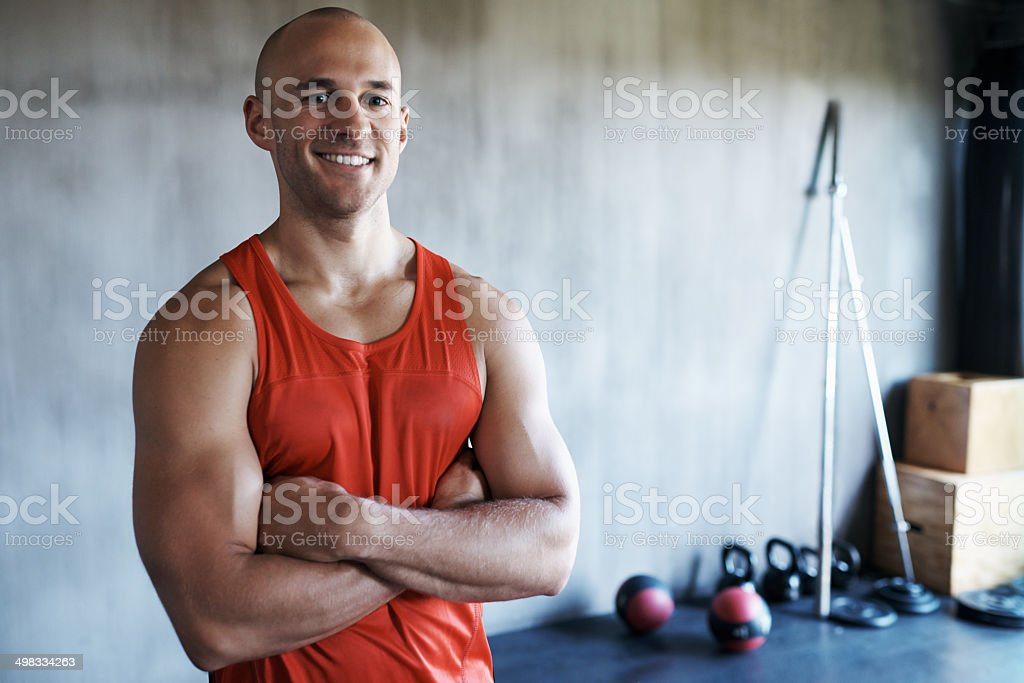 He's fighting fit stock photo
