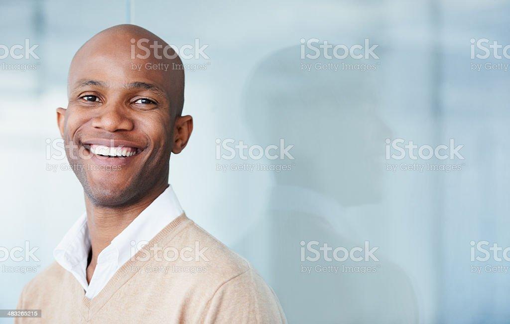 He's got a bright future stock photo
