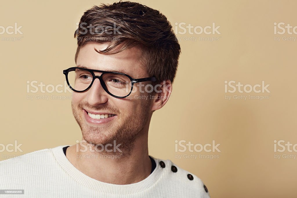 He's got a carefree outlook on life... royalty-free stock photo