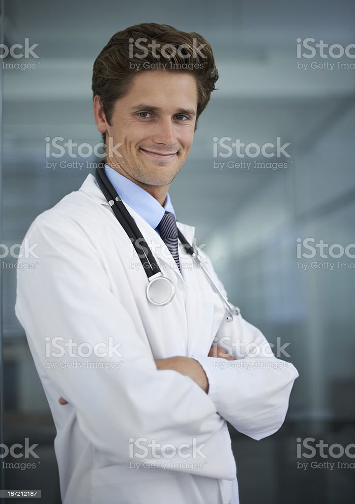 He's got a great bedside manner stock photo