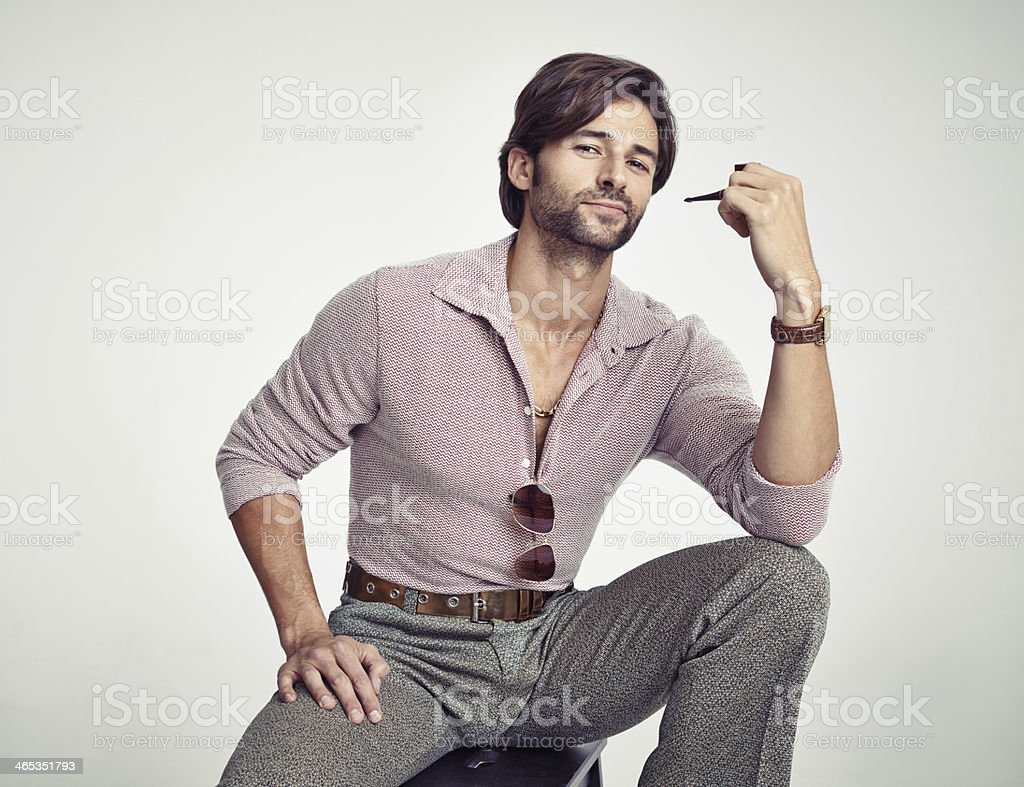 He's got a groovy style! royalty-free stock photo