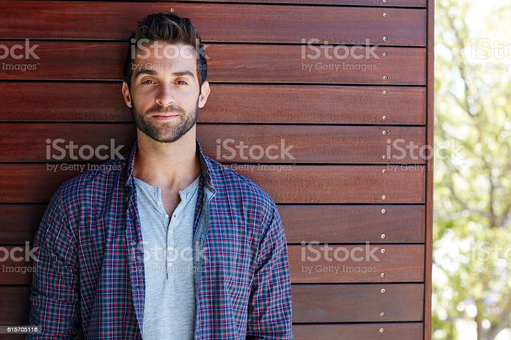 He's got a heartbreaker's smile stock photo