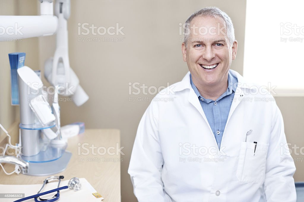 He's got a passion for dental hygiene royalty-free stock photo