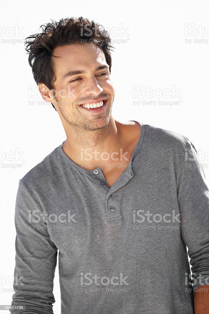 He's got a positive outlook on life royalty-free stock photo
