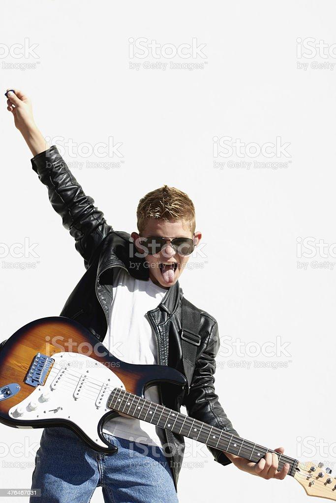 He's got a rockstar attitude royalty-free stock photo
