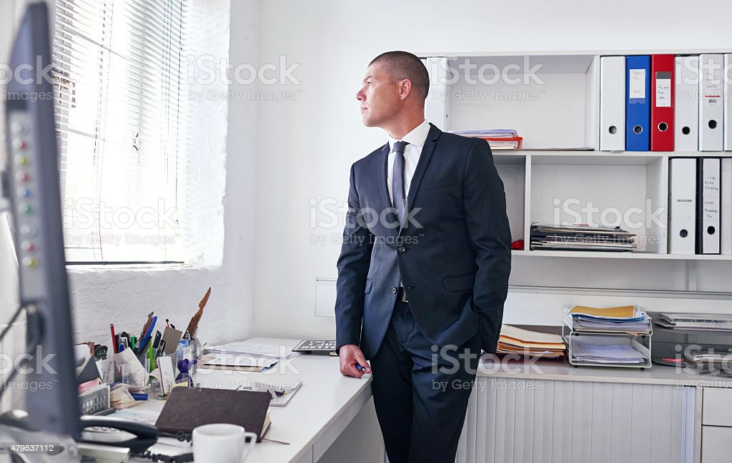 He's got a vision for this company stock photo