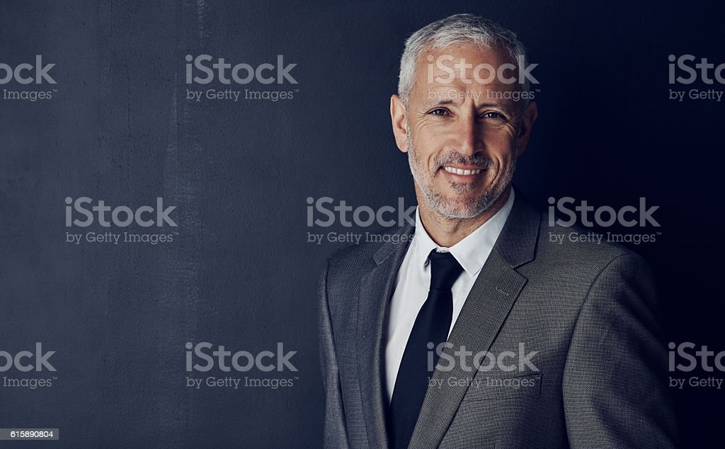 He's got all the attributes of a great CEO stock photo