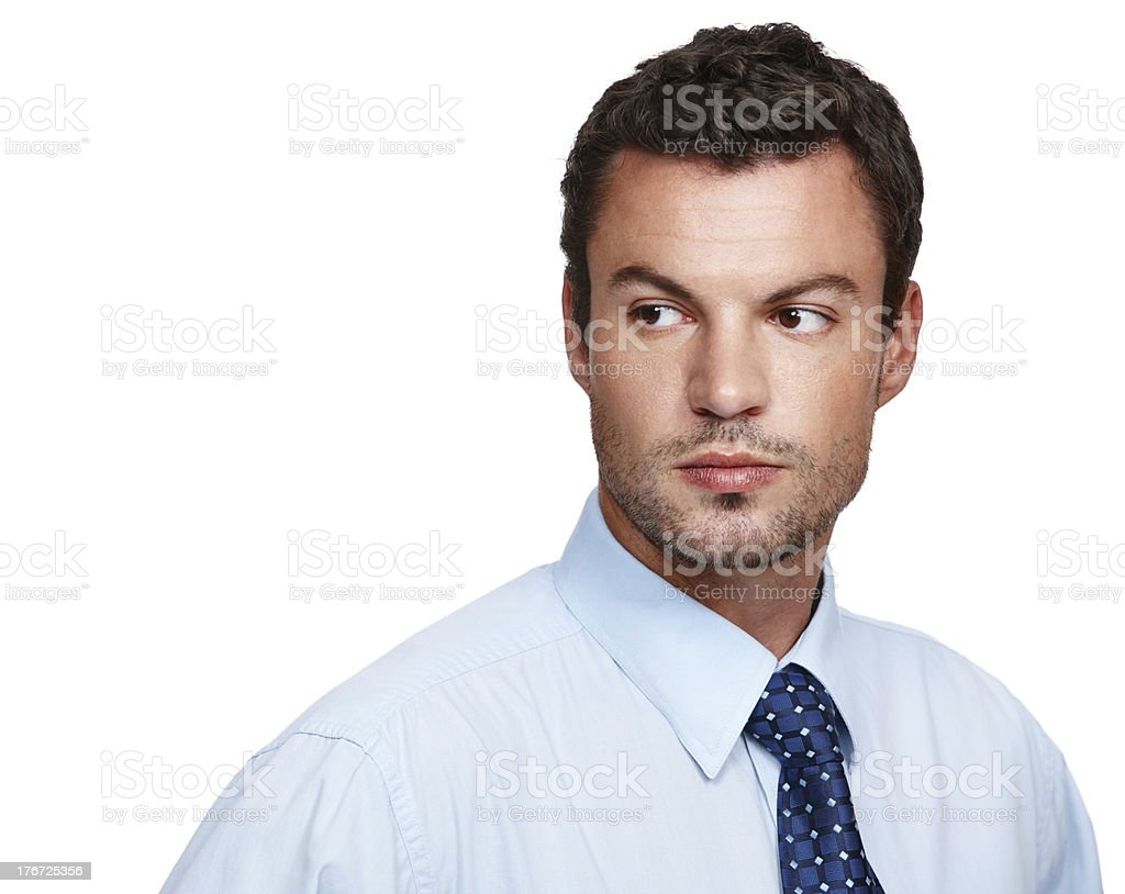 He's got big business ideas royalty-free stock photo
