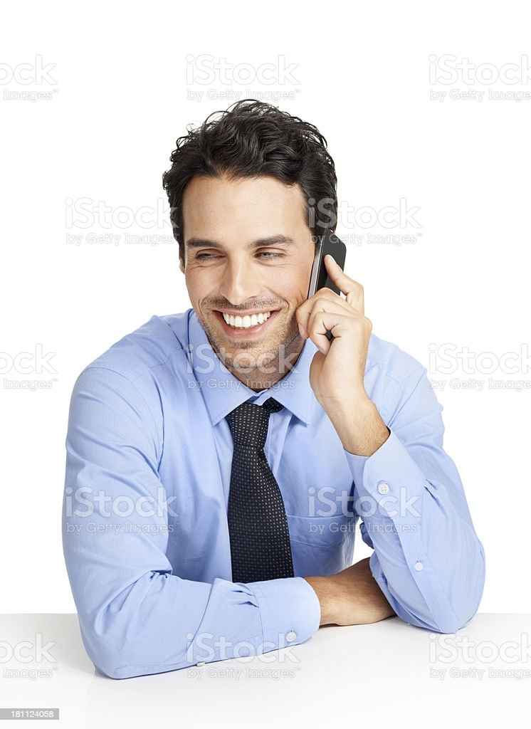 He's got great client management skills royalty-free stock photo