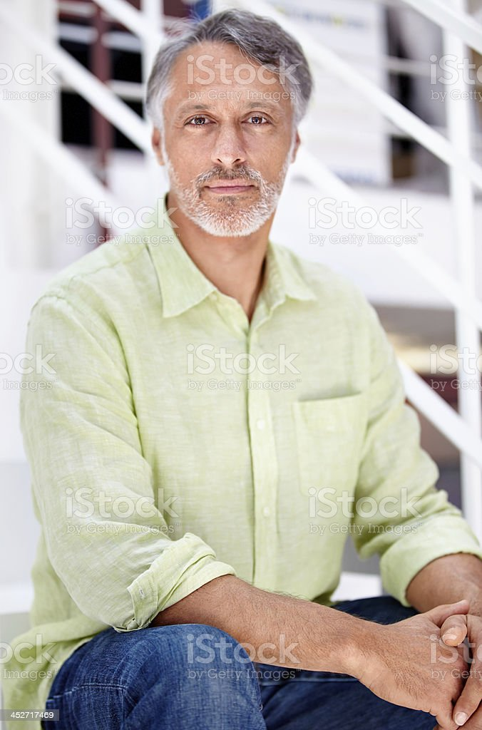 He's got great workplace confidence royalty-free stock photo