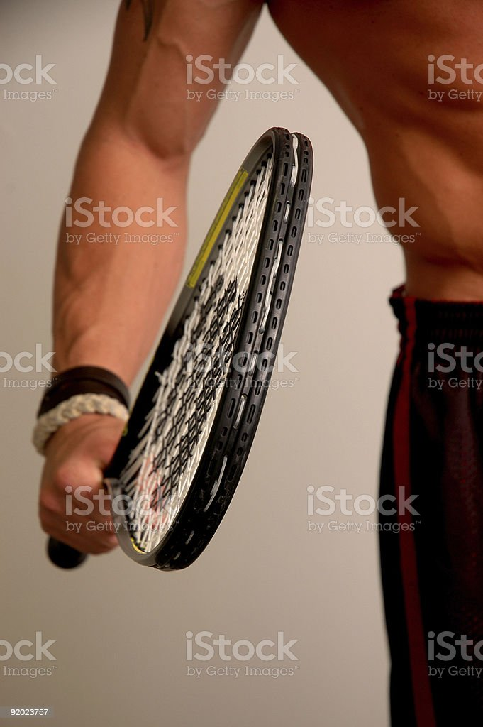he's got himself a racquet royalty-free stock photo