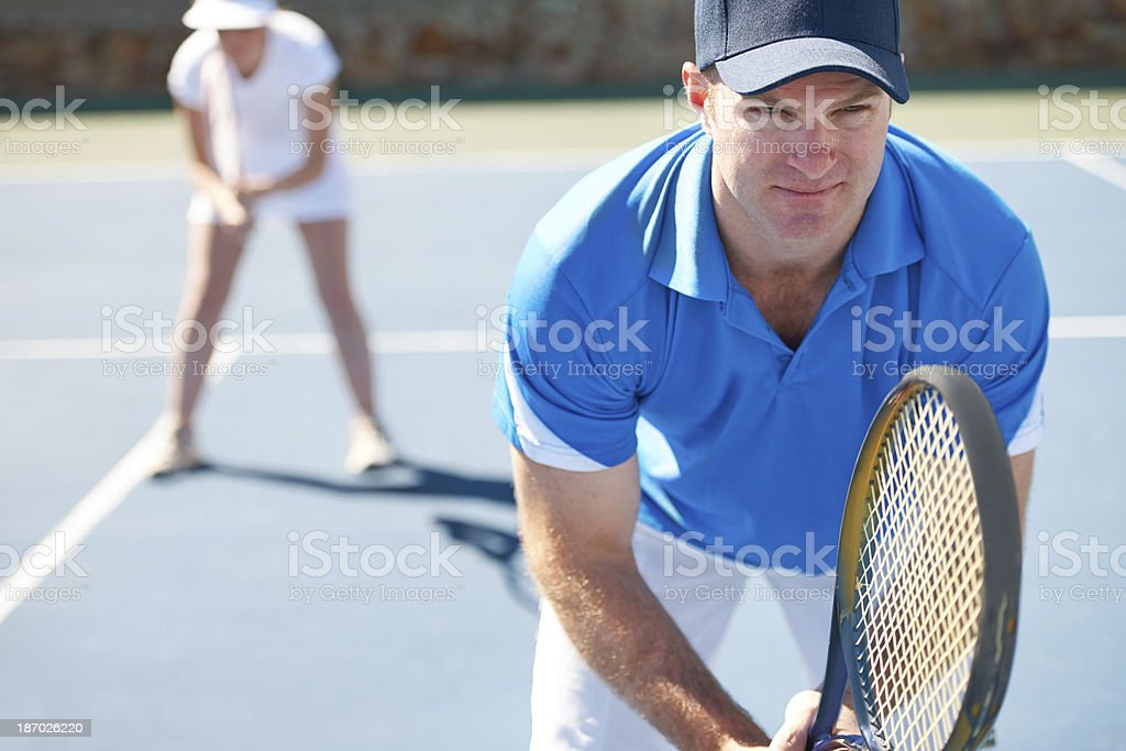 He's got his game face on royalty-free stock photo