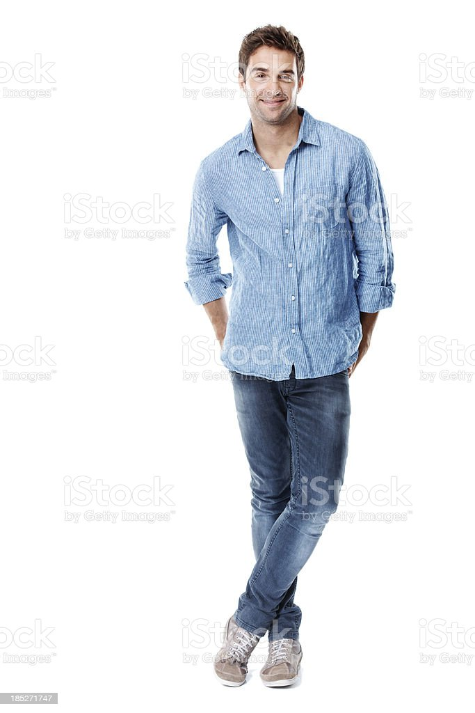 He's got plenty of confidence to boost your text stock photo