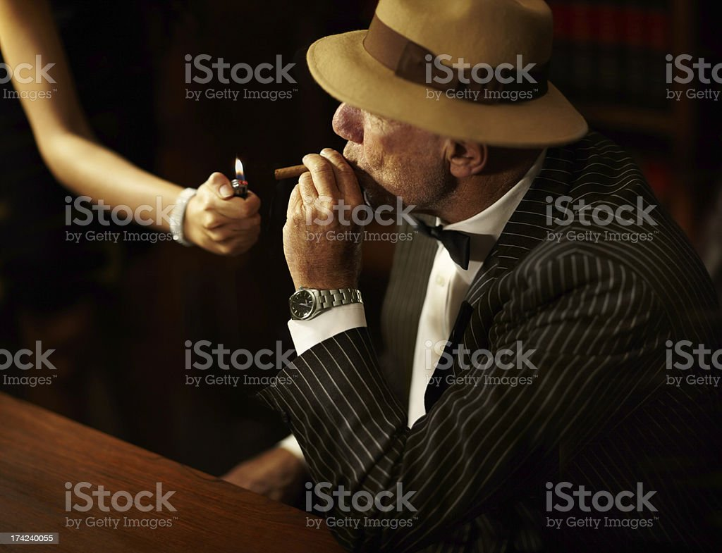 He's got power and influence over others royalty-free stock photo