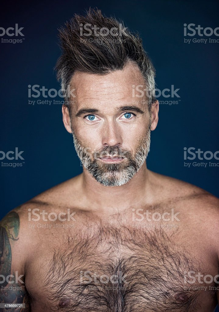 He's got rugged confidence stock photo