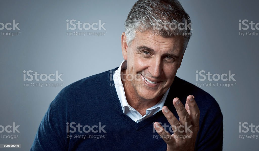 He's got some entertaining stories to tell stock photo