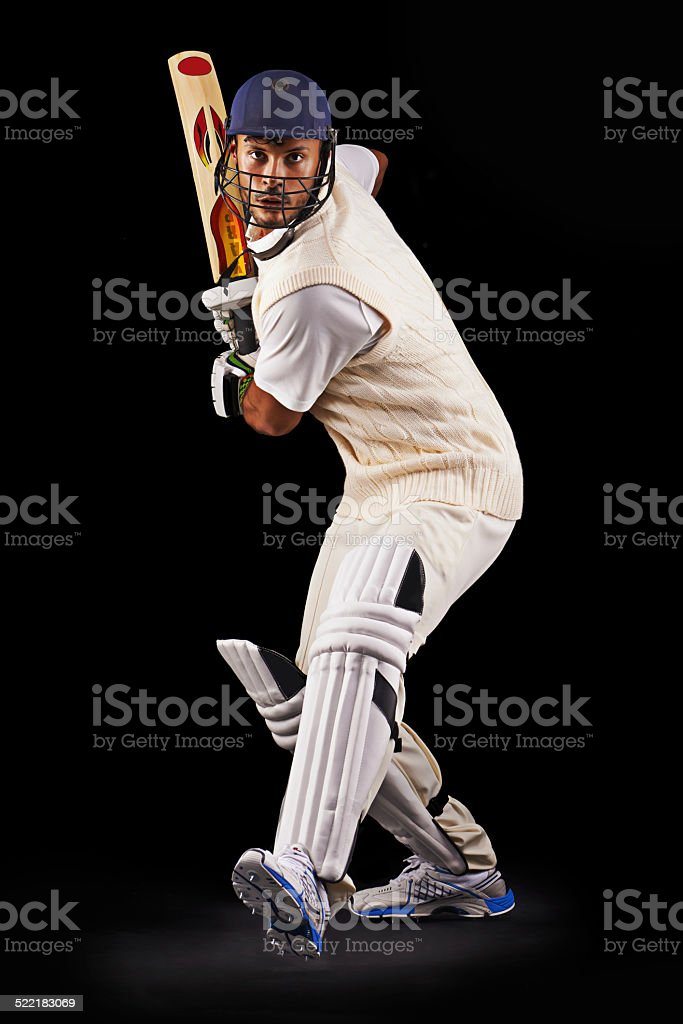 He's got some talent with the bat stock photo