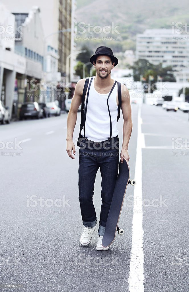 He's got street cred royalty-free stock photo
