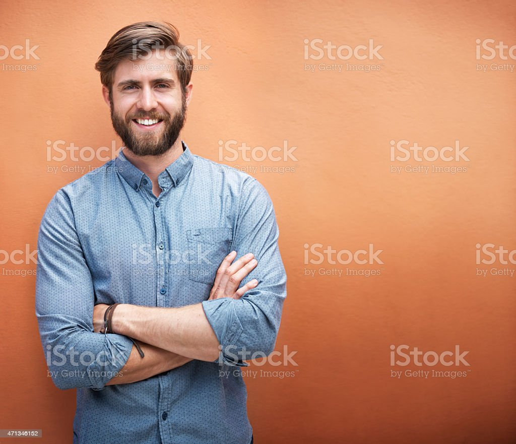 He's got style and a great smile stock photo