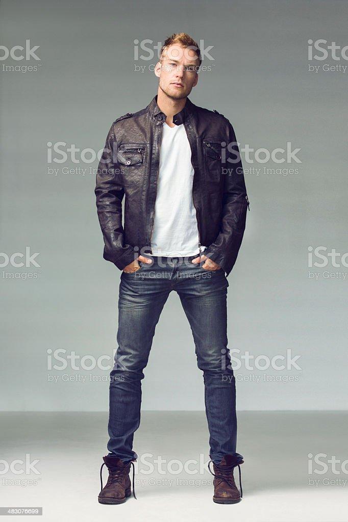 He's got style! stock photo