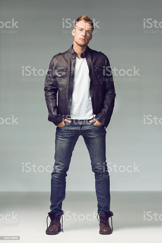 He's got style! stock photo