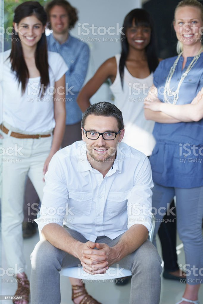 He's got the abilty to lead royalty-free stock photo