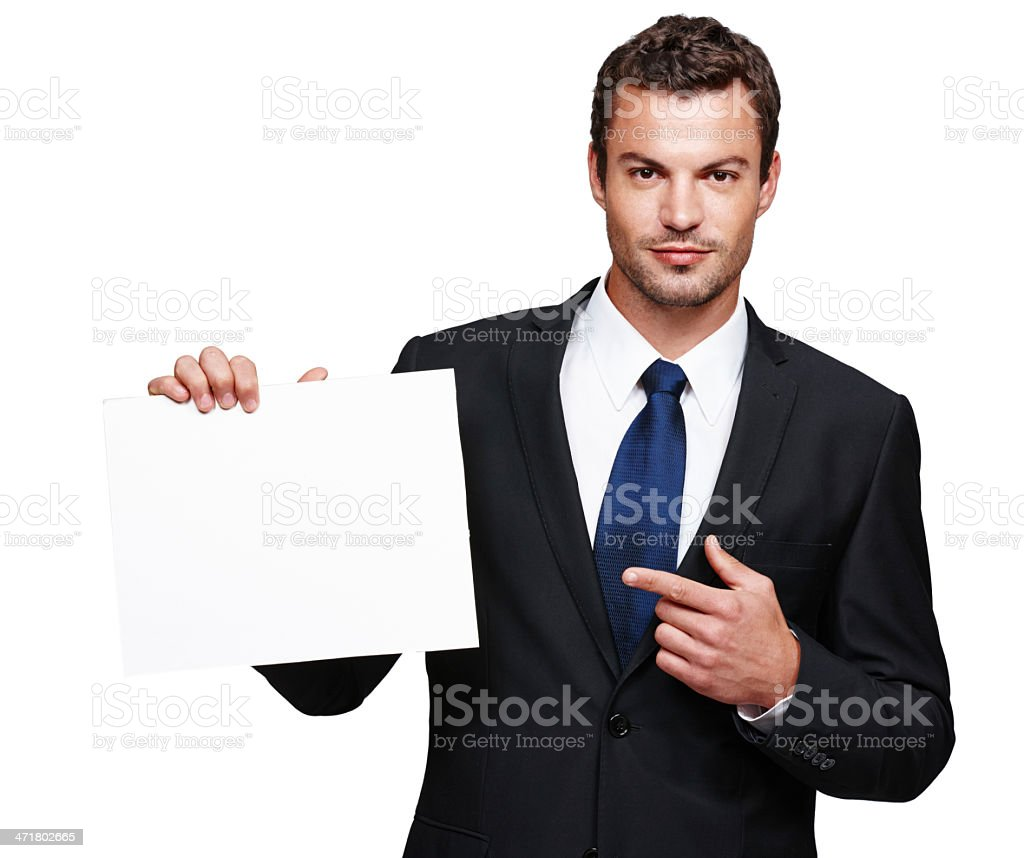 He's got the best deal for you! royalty-free stock photo
