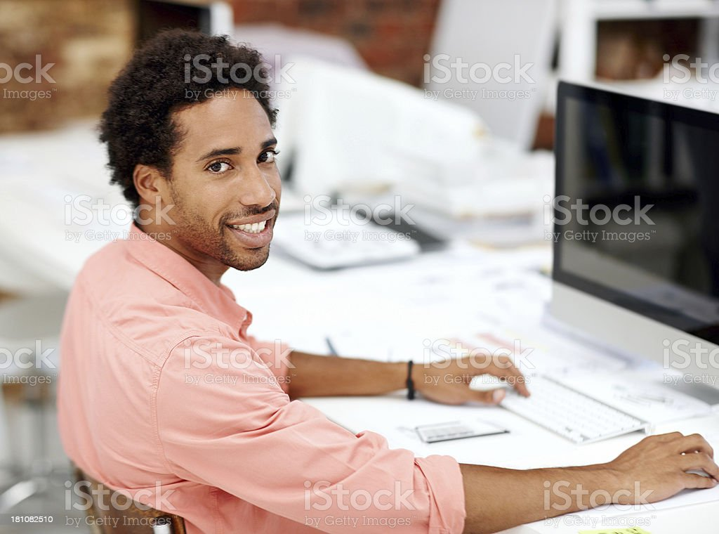 He's got the right attitude for success royalty-free stock photo