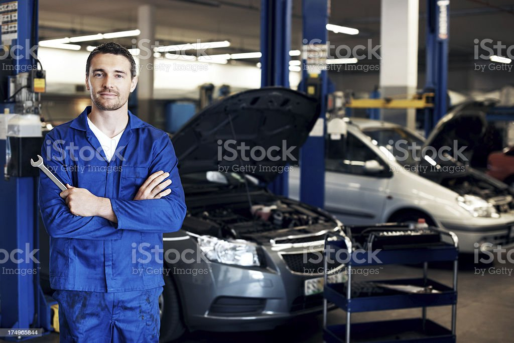 He's got the right tool for very job royalty-free stock photo