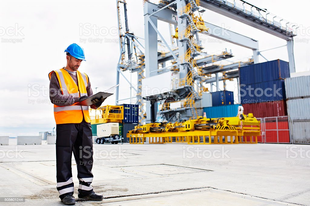 He's got your freight covered stock photo