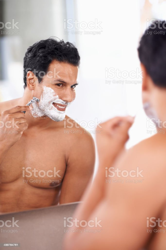 He's grooming for the ladies royalty-free stock photo
