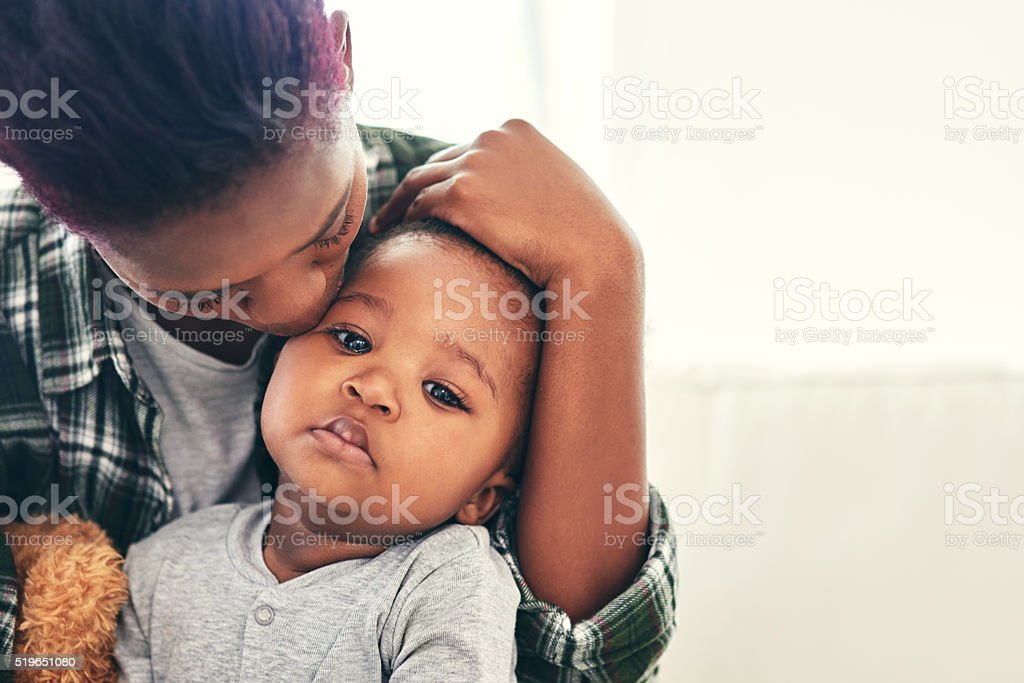 He's growing up so fast stock photo
