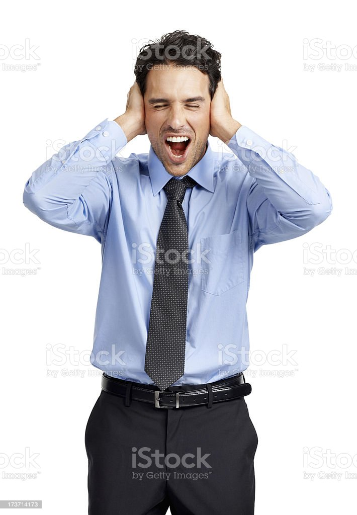 He's having a breakdown royalty-free stock photo