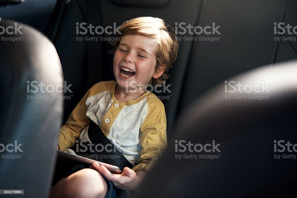 He's having a laugh stock photo