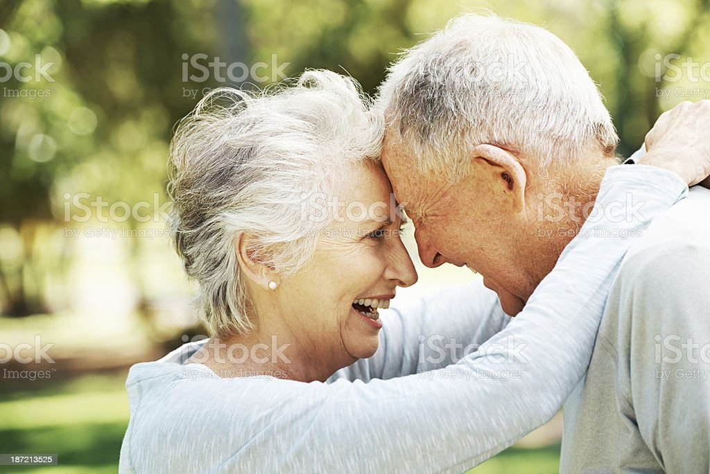 He's her greatest supporter! royalty-free stock photo