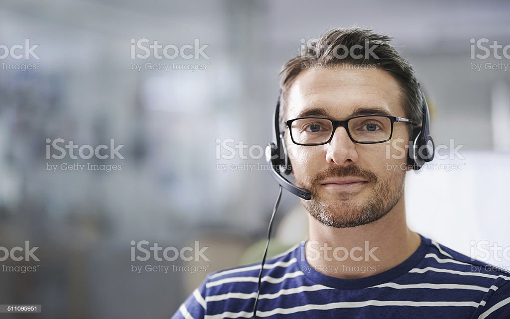 He's here to help! stock photo