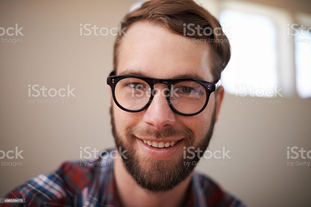 He's hip and handsome stock photo