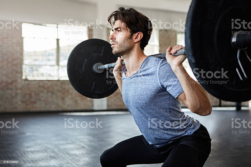 He's in great form for his lift stock photo