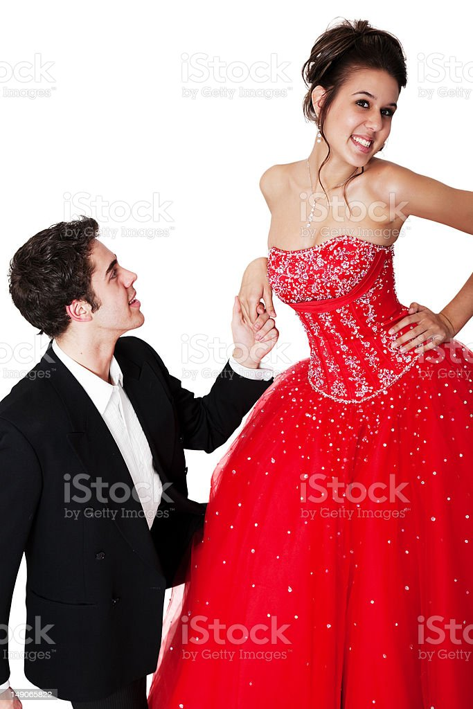 He's in Love With Her stock photo