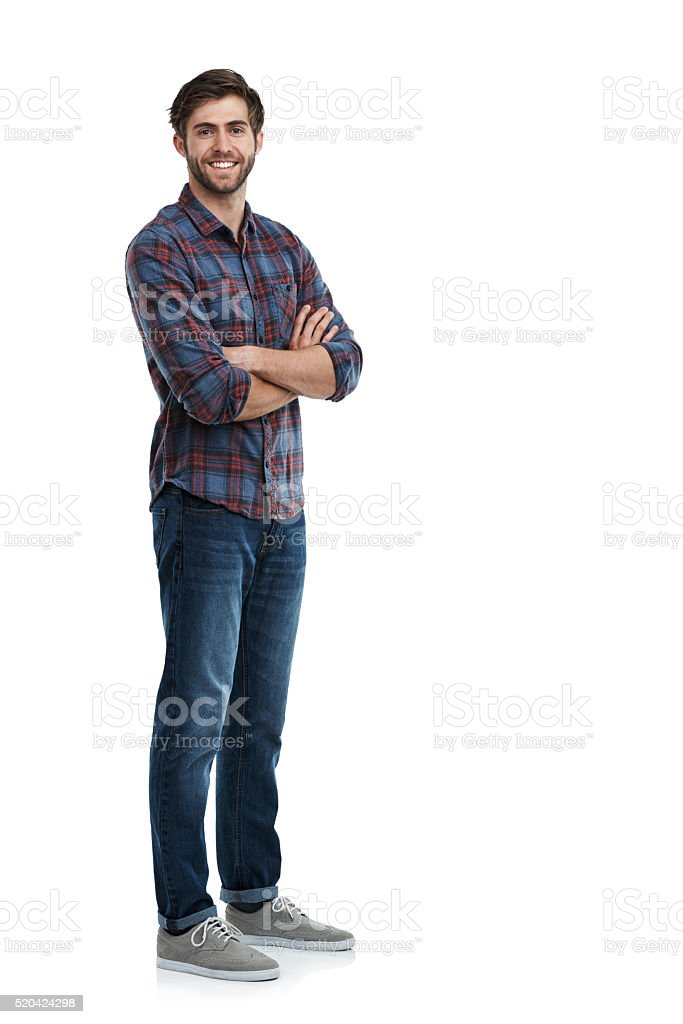 He's just a laid back guy stock photo
