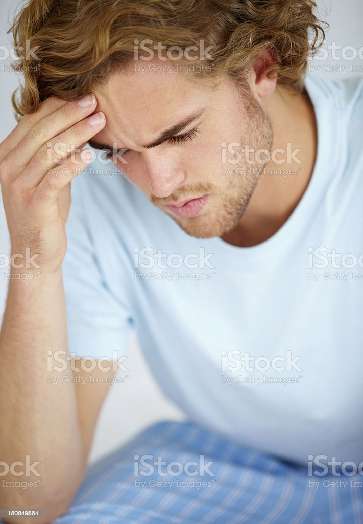 He's just got some bad news royalty-free stock photo