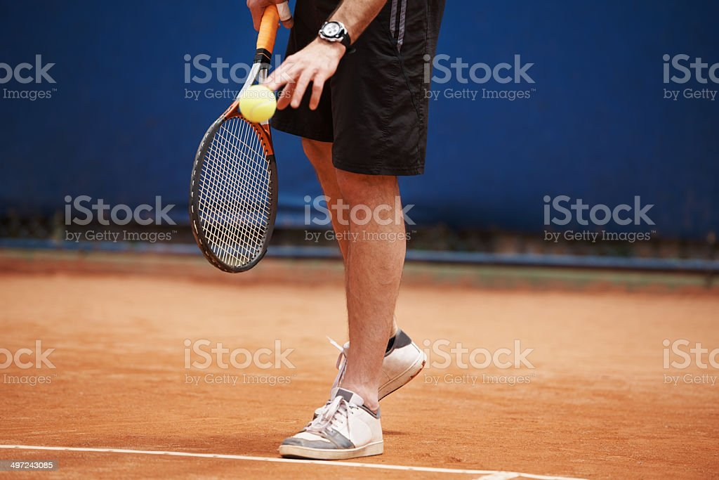 He's king of this court royalty-free stock photo